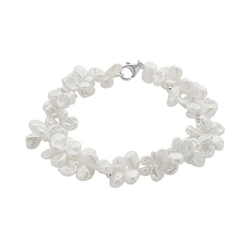 PearLustre by Imperial Keshi Freshwater Cultured Pearl Sterling Silver Bracelet