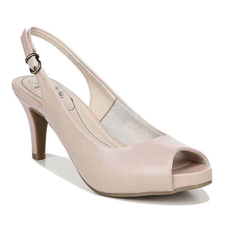 Show off in the Teller slingback pump from LifeStride.Watch the product video here.SHOE FEATURES Slingback strap with adjustable buckle SoftSystem comfort elements for all-day comfort SHOE CONSTRUCTION Manmade upper, lining & outsole SHOE DETAILS Peep-toe Buckle closure Padded footbed 2.75-in. heel  Size: 10 N. Color: Pink. Gender: female. Age Group: adult. Material: Synthetic.