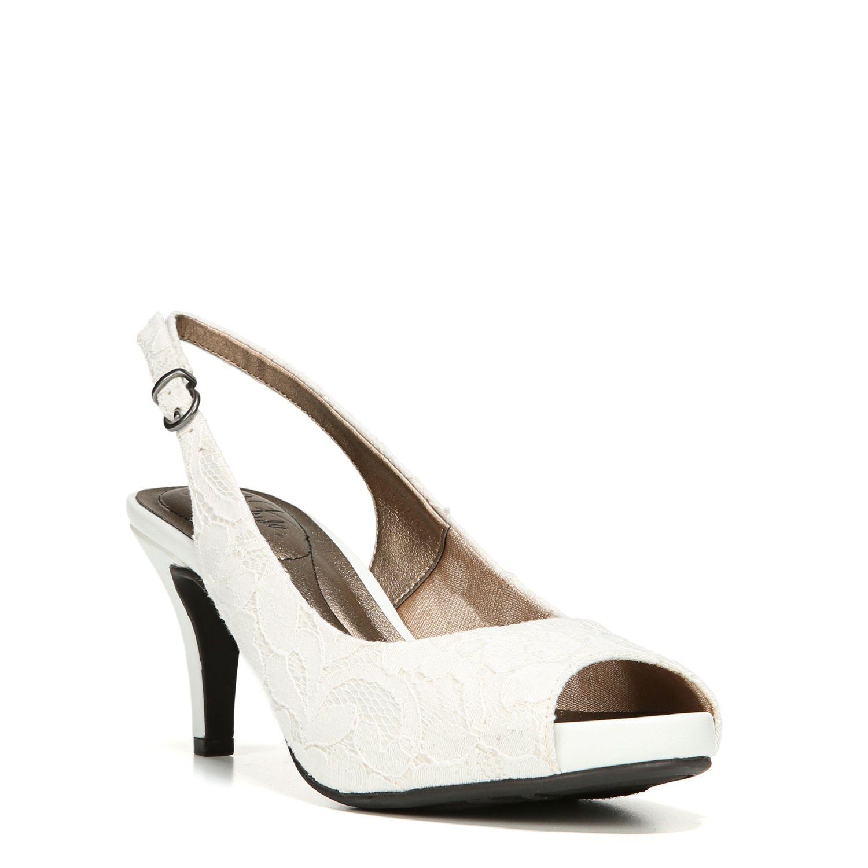 White Slingback Heels