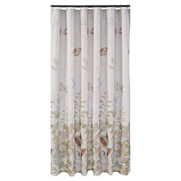 Fluttering Fabric Shower Curtain