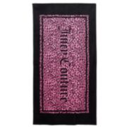 Juicy Couture Logo Animal Print Beach Towel