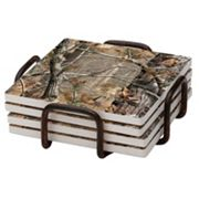 Thirstystone 4 pc Realtree Occasions Coaster Set with Holder