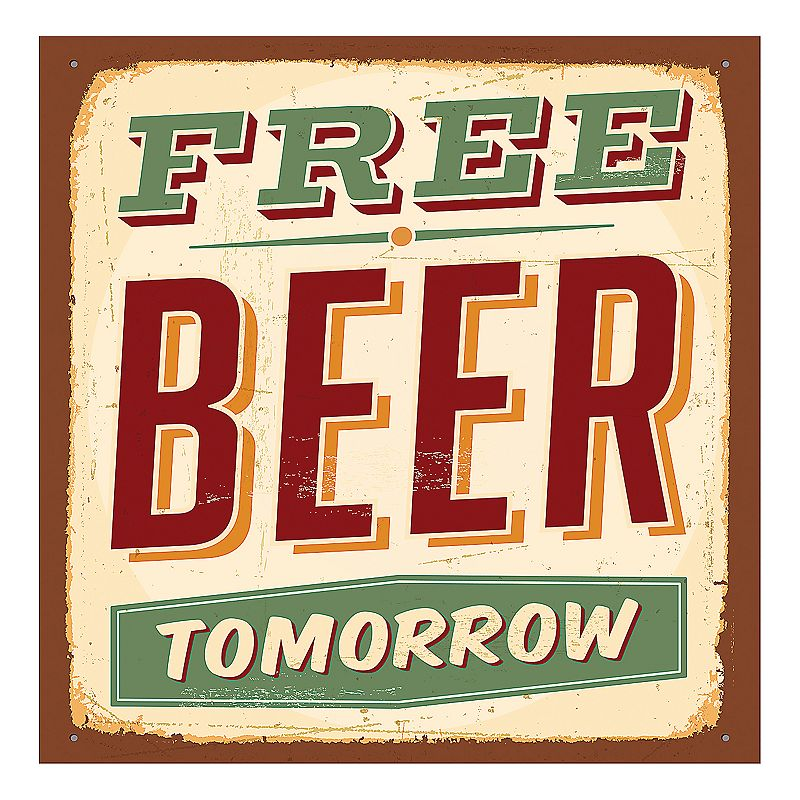 Thirstystone 4-pc. ''Free Beer Tomorrow'' Occasions Coaster Set