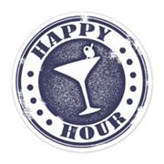 Thirstystone 4 pc ''Happy Hour'' Cocktail Occasions Coaster Set