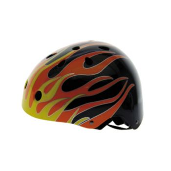 Ventura Black Flames Freestyle Helmet
