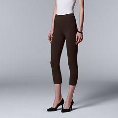 Simply Vera Vera Wang Low-Rise Capri Leggings