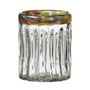 Global Amici Festival Optic 4 pc Double Old-Fashioned Glass Set
