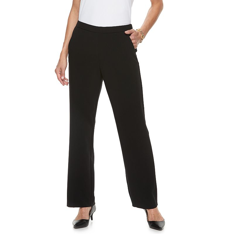 Black Rayon Spandex Pants Kohl S