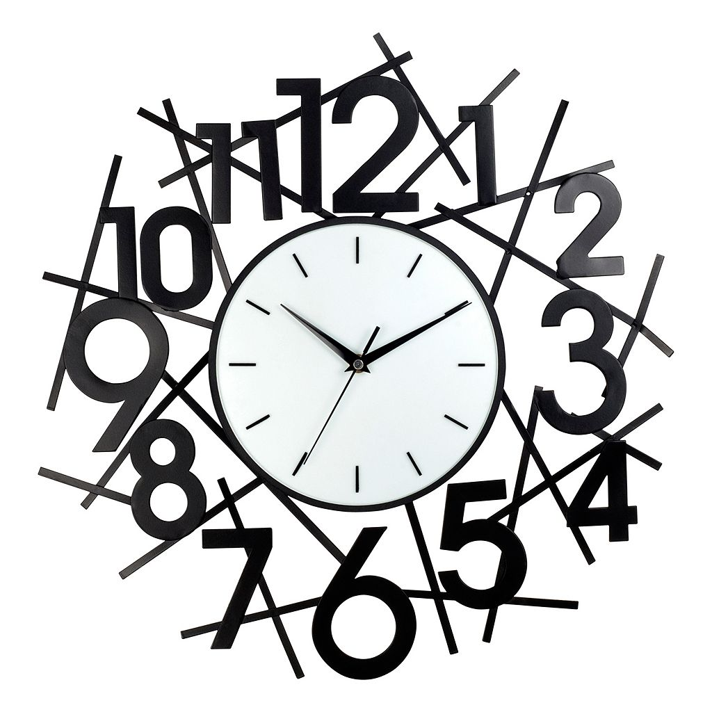 Number Metal Wall Clock