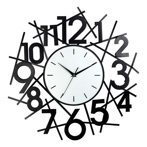 Number Metal Wall Clock