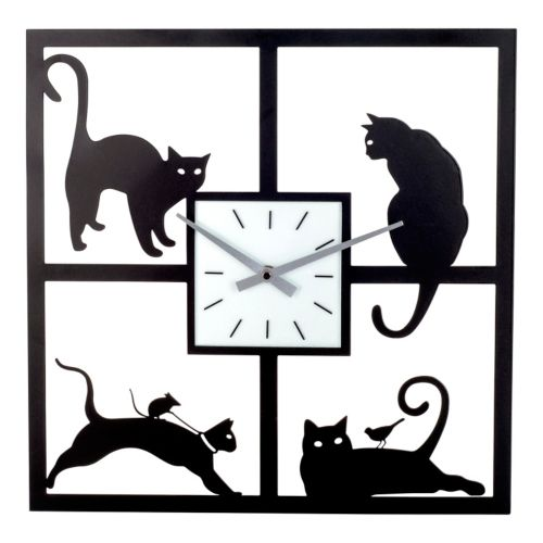 Cat Metal Wall Clock