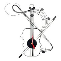 Violin Metal Wall Clock