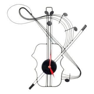 Violin Metal Wall Clock
