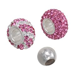 Individuality Beads Crystal Sterling Silver Bead Set