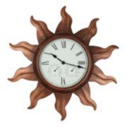Sun Metal Wall Clock - Indoor & Outdoor