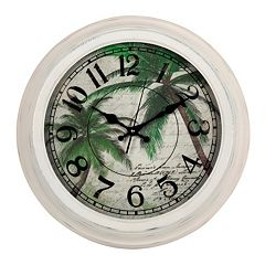 Palm Tree Metal Wall Clock