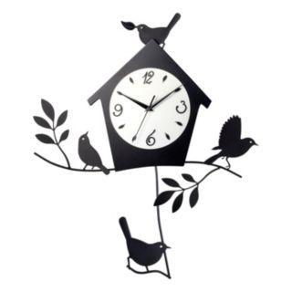 Birds and Birdhouse Pendulum Wall Clock