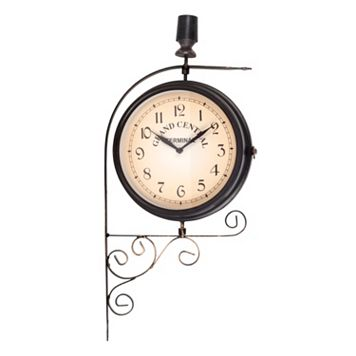 Grand Central Swirl Terminal Wall Clock - Indoor & Outdoor