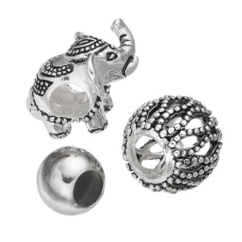 Individuality Beads Sterling Silver Elephant Bead Set