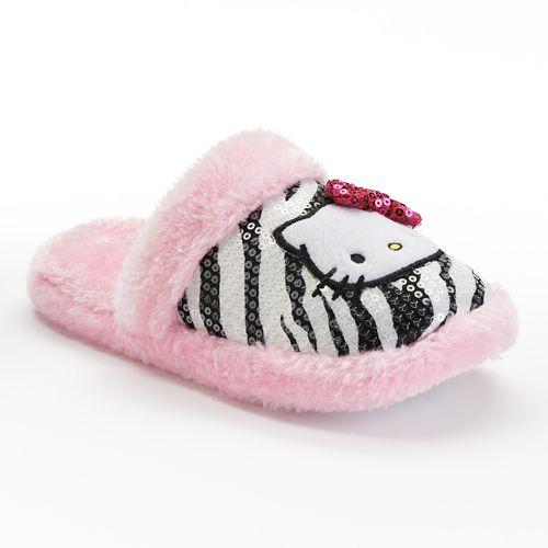 a6e13ec33 Hello Kitty Sequin Zebra Slippers - Girls