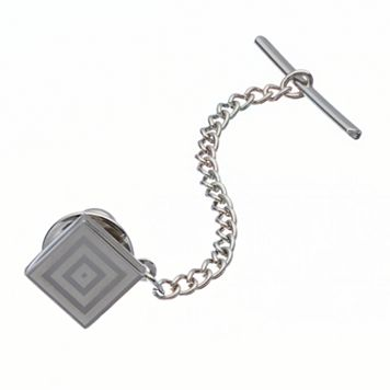 Apt. 9® Polished Rhodium Silver-Tone Tie Tack - Men