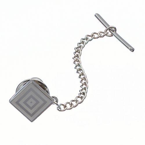 Apt. 9® Polished Rhodium Silver-Tone Tie Tack - Men