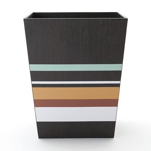 Jessen Stripe Wastebasket