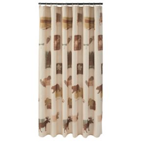 Nature's Trail Fabric Shower Curtain