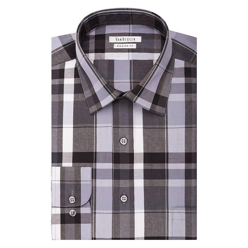 Men's Van Heusen Regular-Fit Striped Wrinkle-Free Dress Shirt