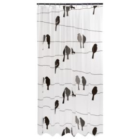 Birds on a Wire PEVA Shower Curtain