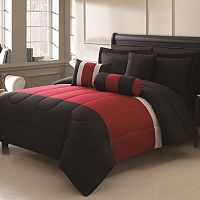 Serenity Red 10 pc Bed Set