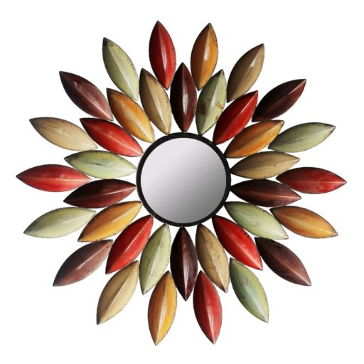 Autumn Leaf Metal Wall Mirror