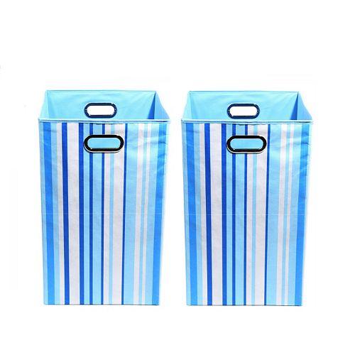 Modern Littles 2-pc. Striped Storage Bin Set