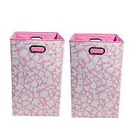 Modern Littles 2 pc Giraffe Storage Bin Set