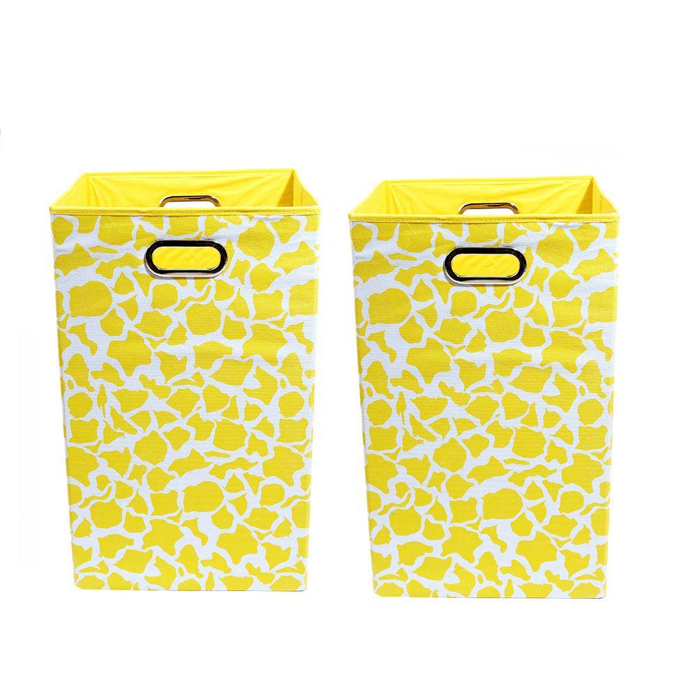 Modern Littles 2-pc. Giraffe Storage Bin Set
