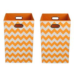 Modern Littles 2-pc. Chevron Storage Bin Set