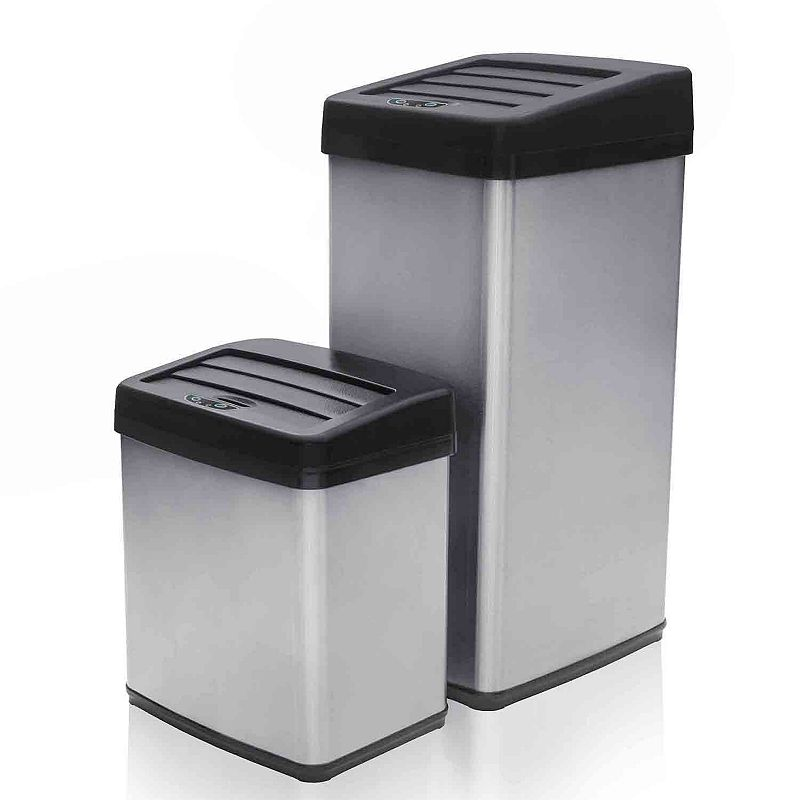 Modernhome Anti-Fingerprint Motion-Activated Trash Can Set