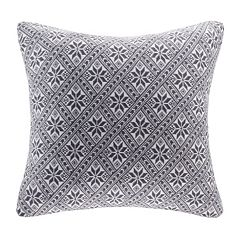 Madison Park 20'' x 20'' Snowflake Knit Throw Pillow