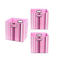 Modern Littles 3 pc Striped Storage Bin Set