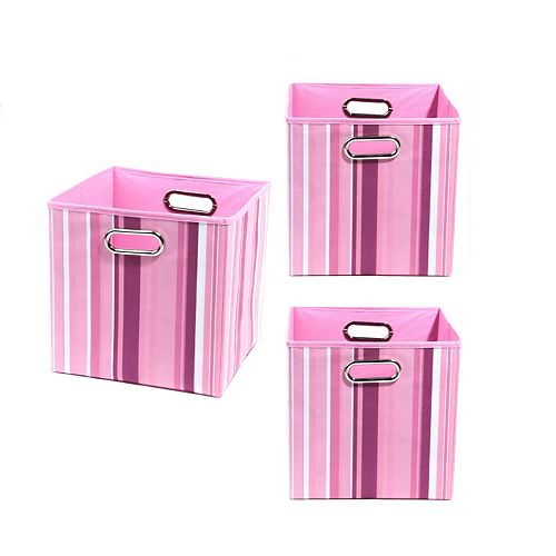 Modern Littles 3-pc. Striped Storage Bin Set