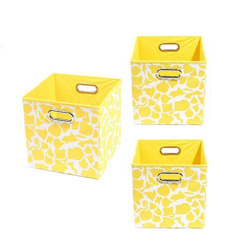 Modern Littles 3-pc. Giraffe Storage Bin Set