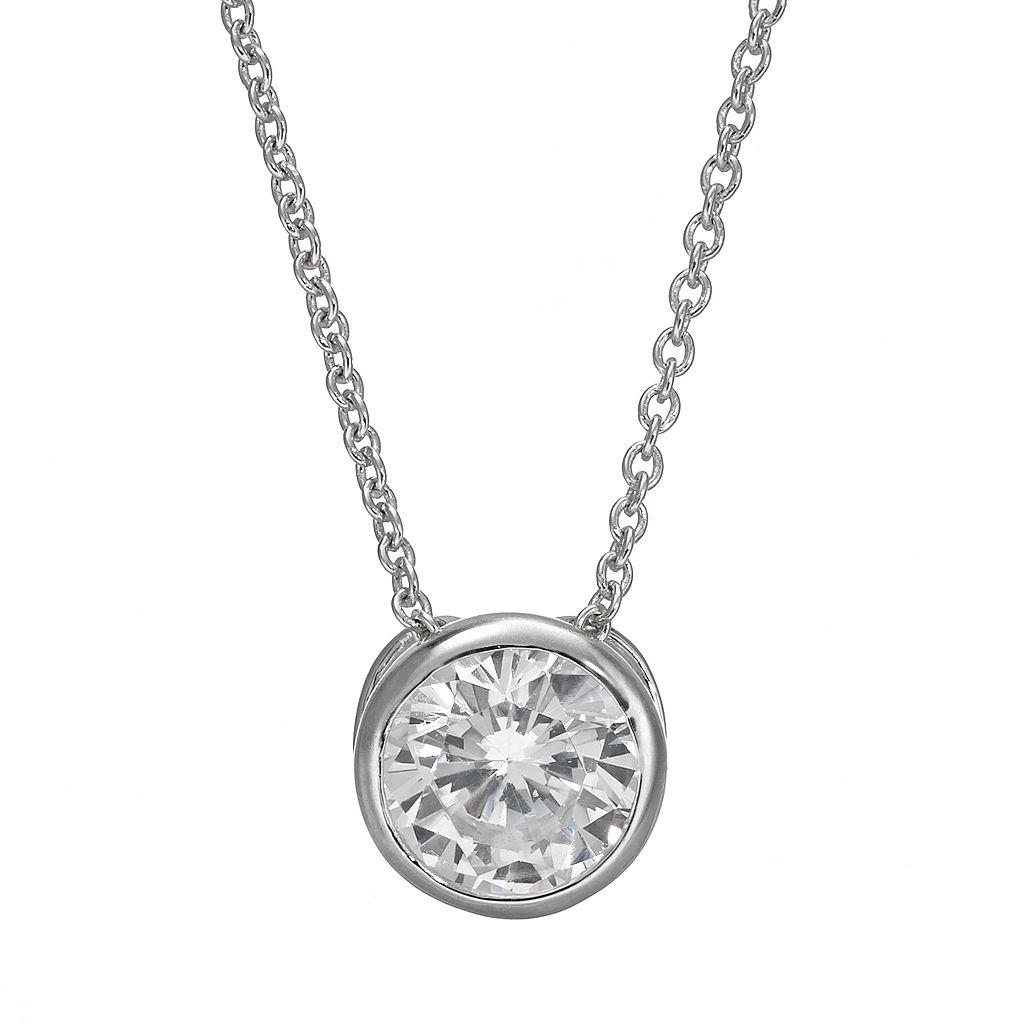 Sophie Miller Cubic Zirconia Sterling Silver Pendant Necklace