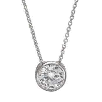 Sophie Miller Cubic Zirconia Sterling Silver Pendant Necklace