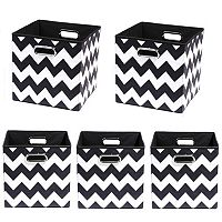 Modern Littles 5 pc Chevron Storage Bin Set
