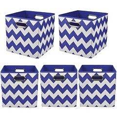 Modern Littles 5-pc. Chevron Storage Bin Set