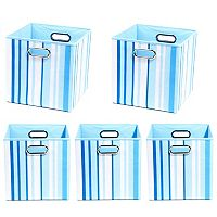Modern Littles 5 pc Striped Storage Bin Set