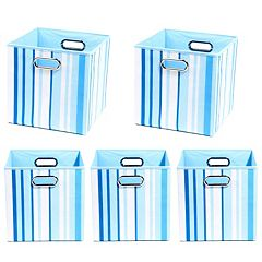 Modern Littles 5-pc. Striped Storage Bin Set