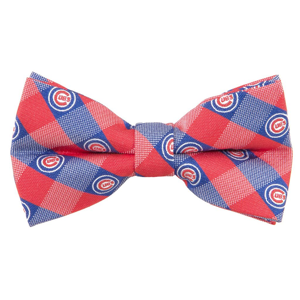 Chicago Cubs Check Woven Bow Tie