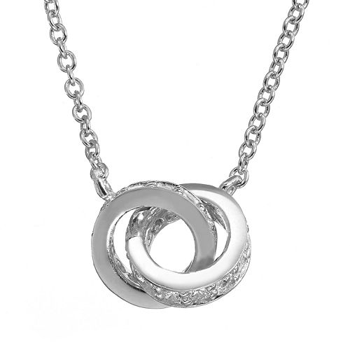 Sophie Miller Cubic Zirconia Sterling Silver Unity Necklace