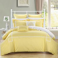 Woodford 7 pc Yellow Embroidered Comforter Set